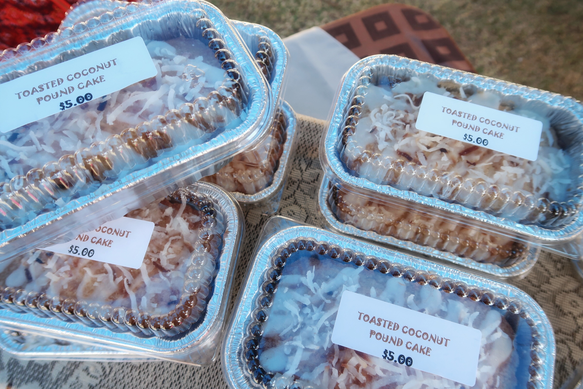 Carol Braggs of  Sweet As Can B  e's  winning Toasted Coconut Pound Cake.  Check them out at the George Town Farmer's Market!