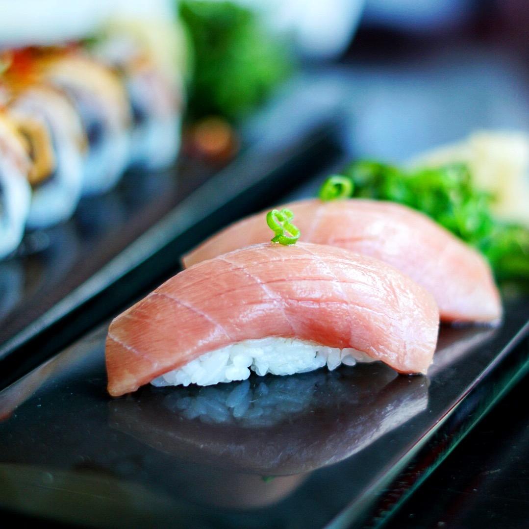 A succulent Toro (Tuna Belly) Nigiri