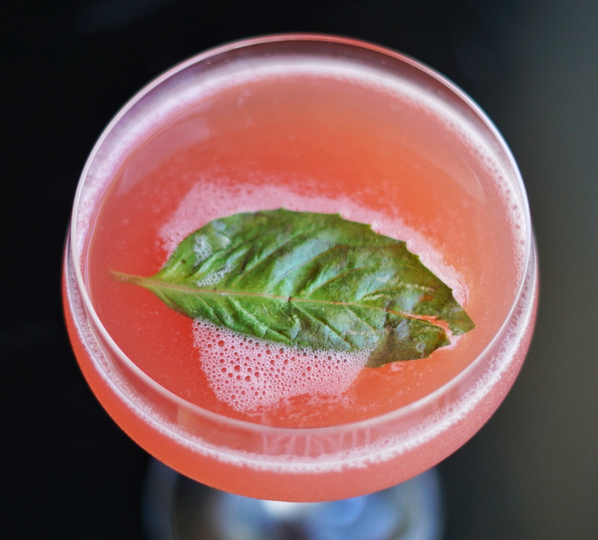 Cucumber Jacques: Cucumber infused gin, St. Germain, fresh watermelon juice, homemade basil syrup.