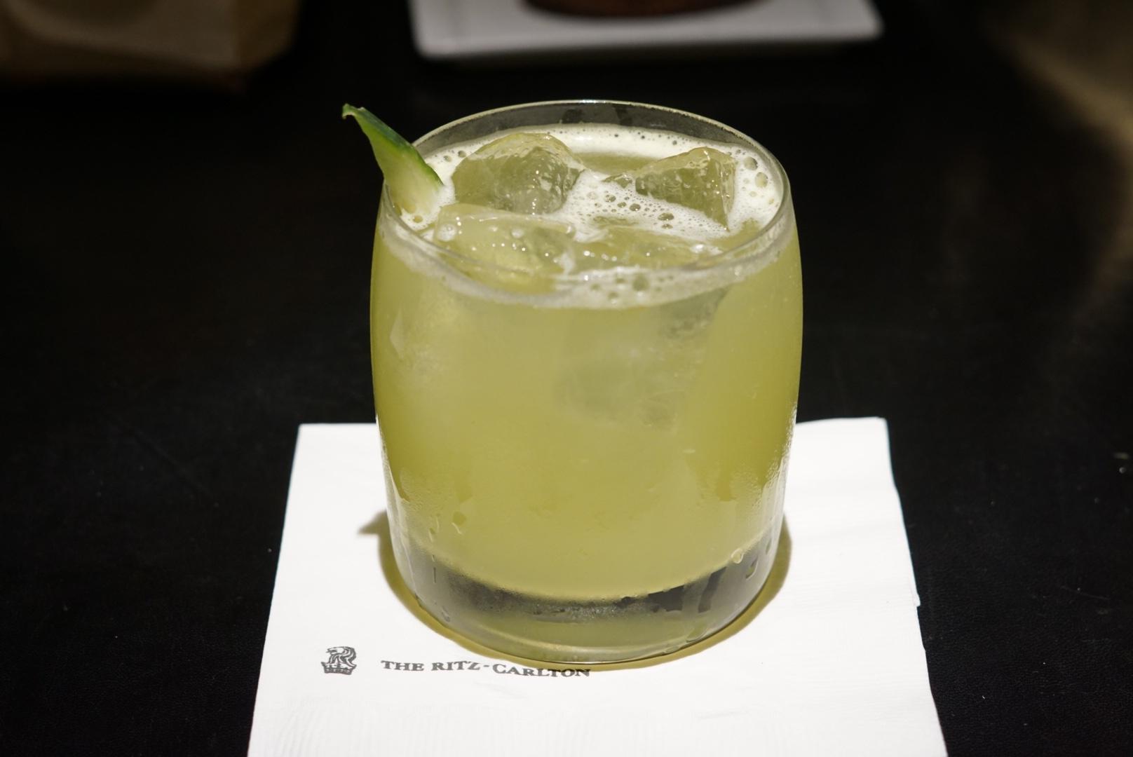 'Shade of Green': Tanqueray gin, mint, basil, cucumber, citrus and soda water.