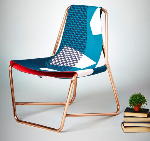 I love the pattern and color of this chair. But might be too much my style from  cargocollective.com