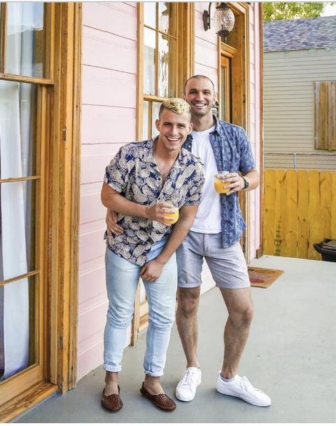 Happy millennial friends post brunch