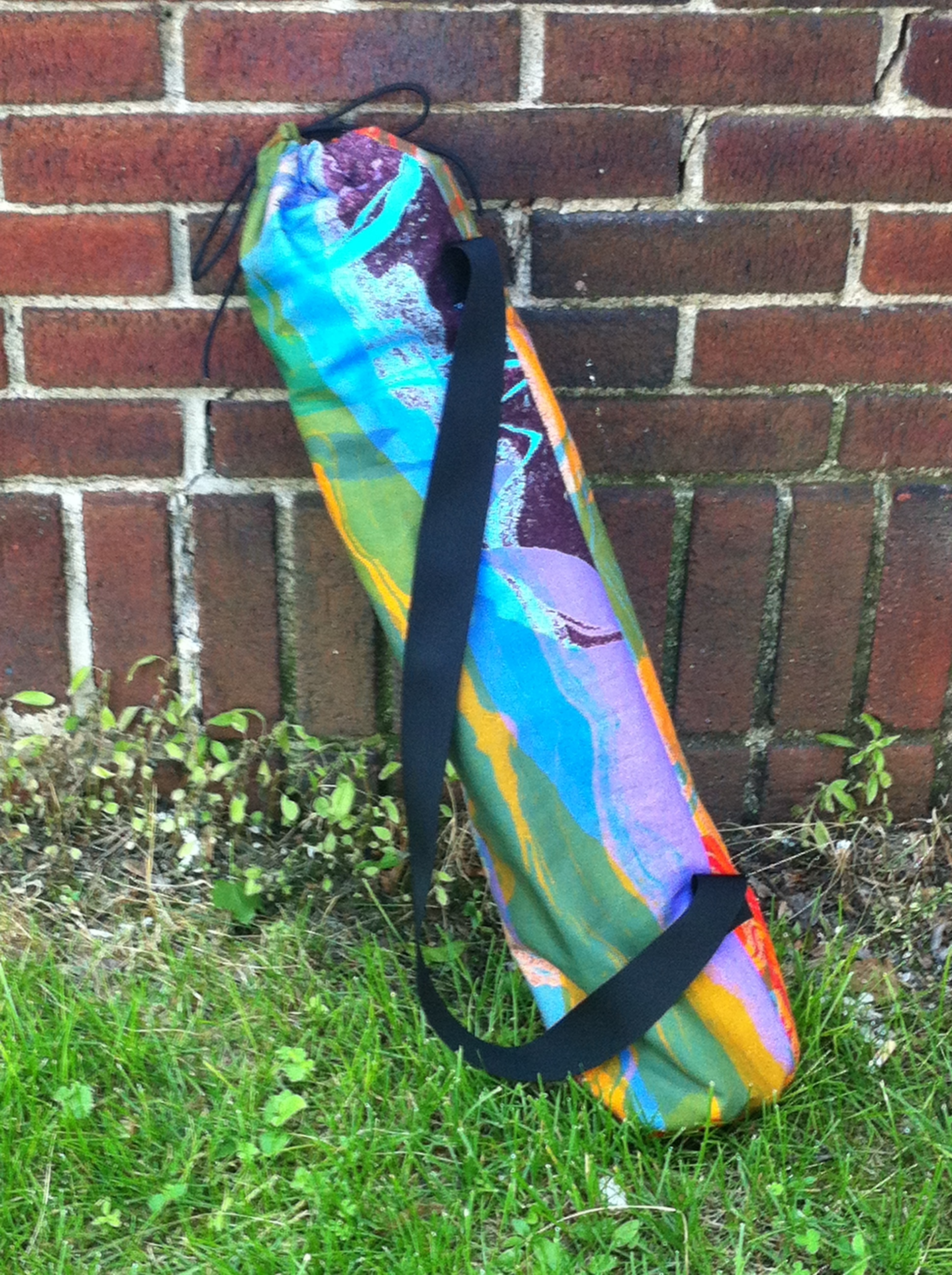 Multicolor Abstract Yoga Mat Bag- vertical.JPG