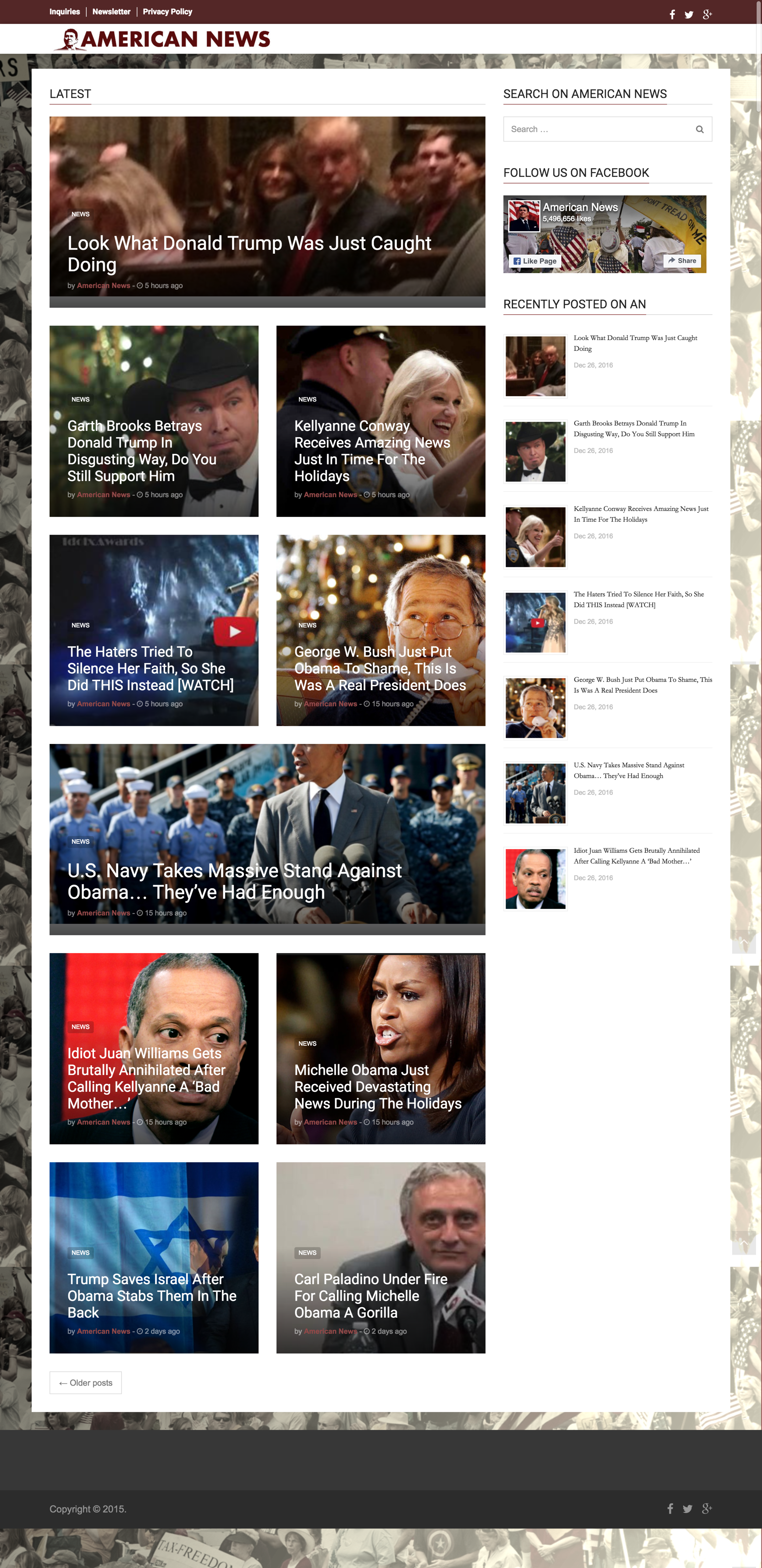 American News  indicates that real news sites have to work much hard on their design