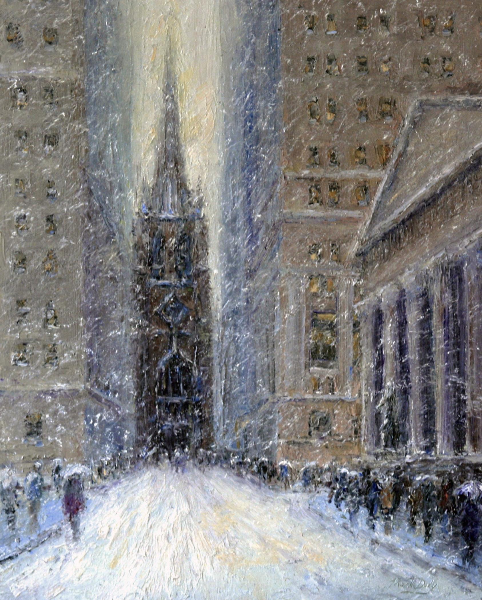 Old Trinity Church in Snow