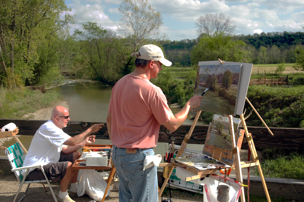 Mark Daly Painting Indiana with CW Mundy