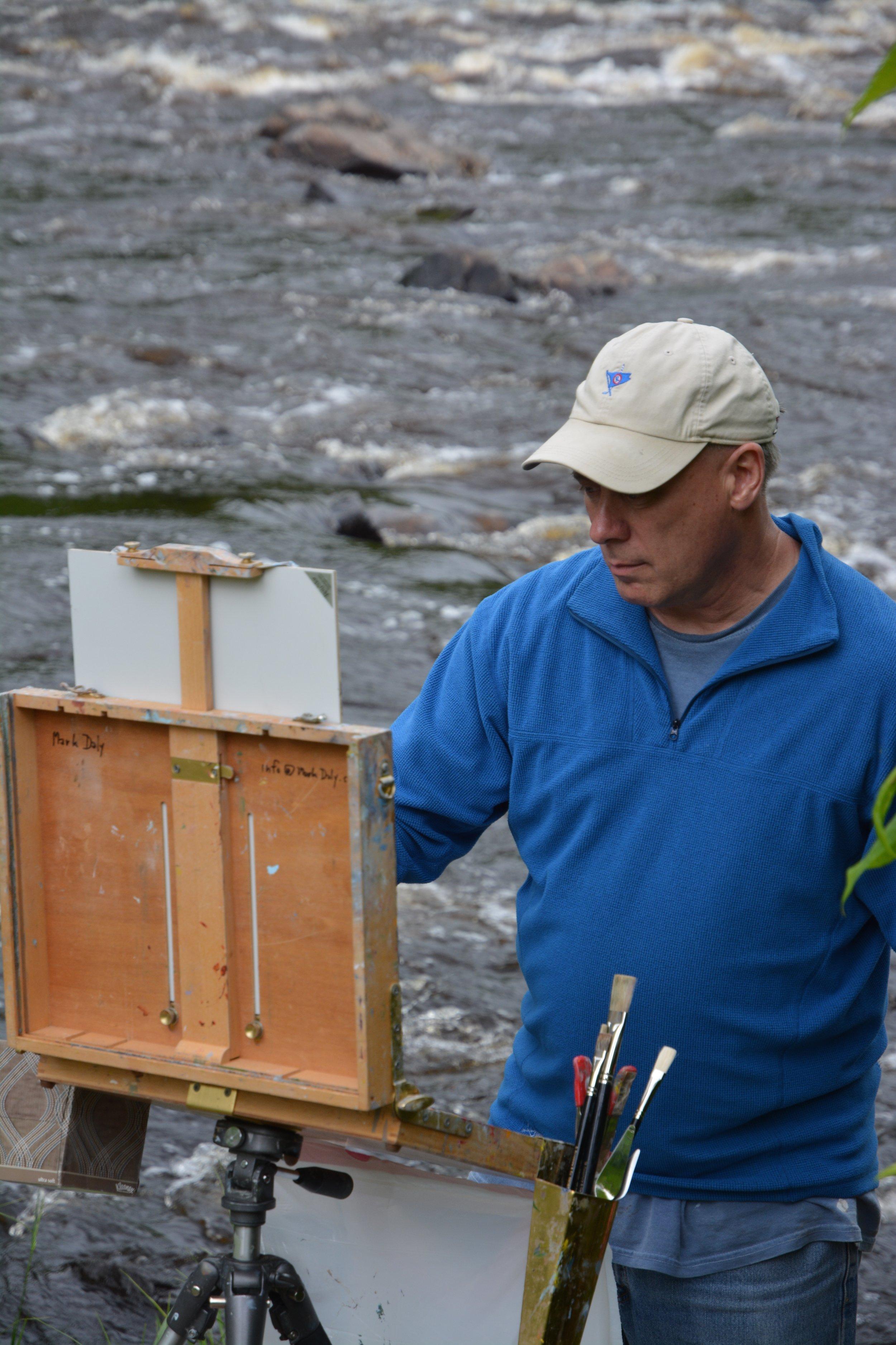 Daly Painting The Adirondacks