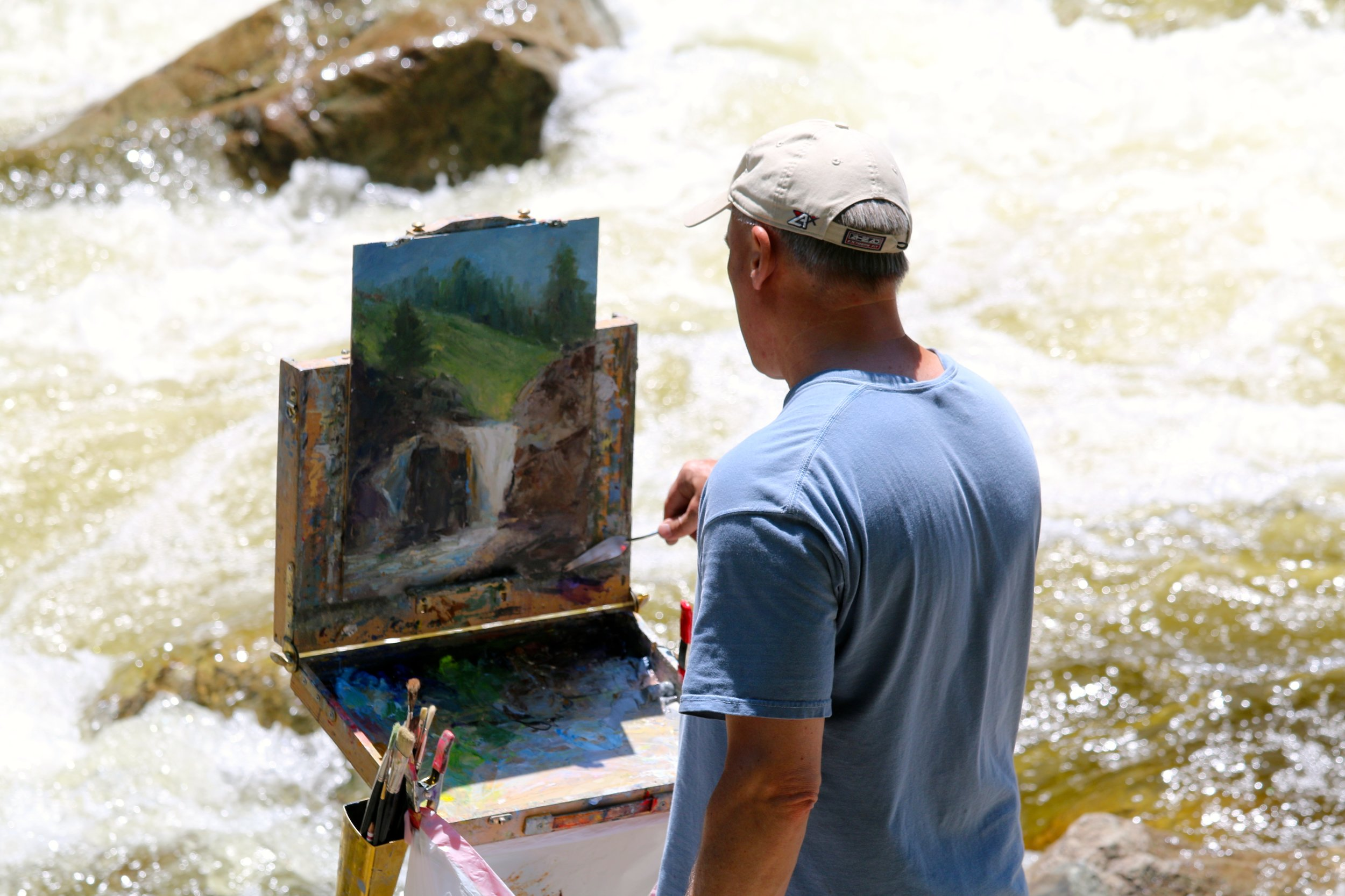 Mark Daly Painting The Flume