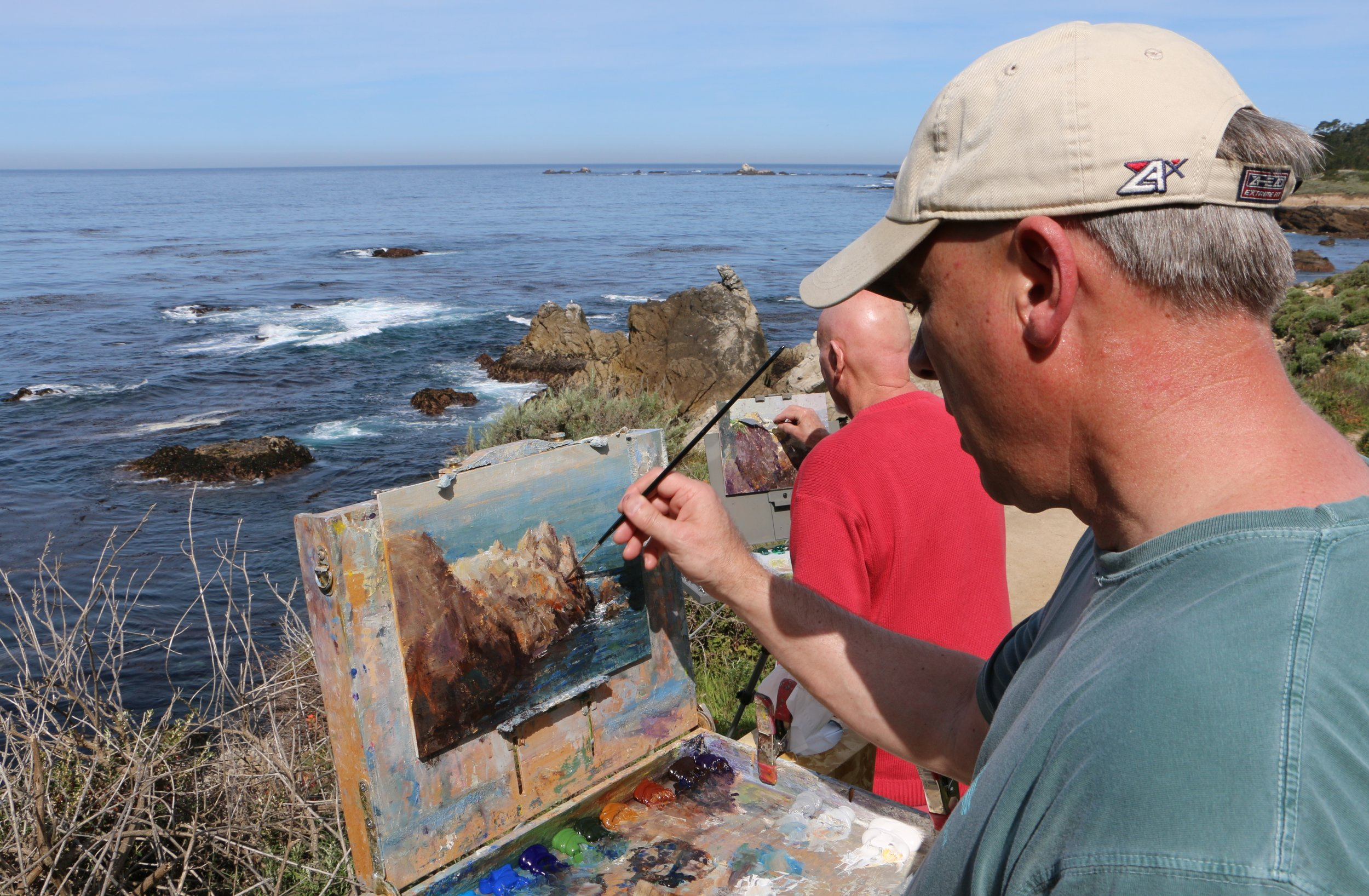 Mark Daly Painting Point Lobos, California