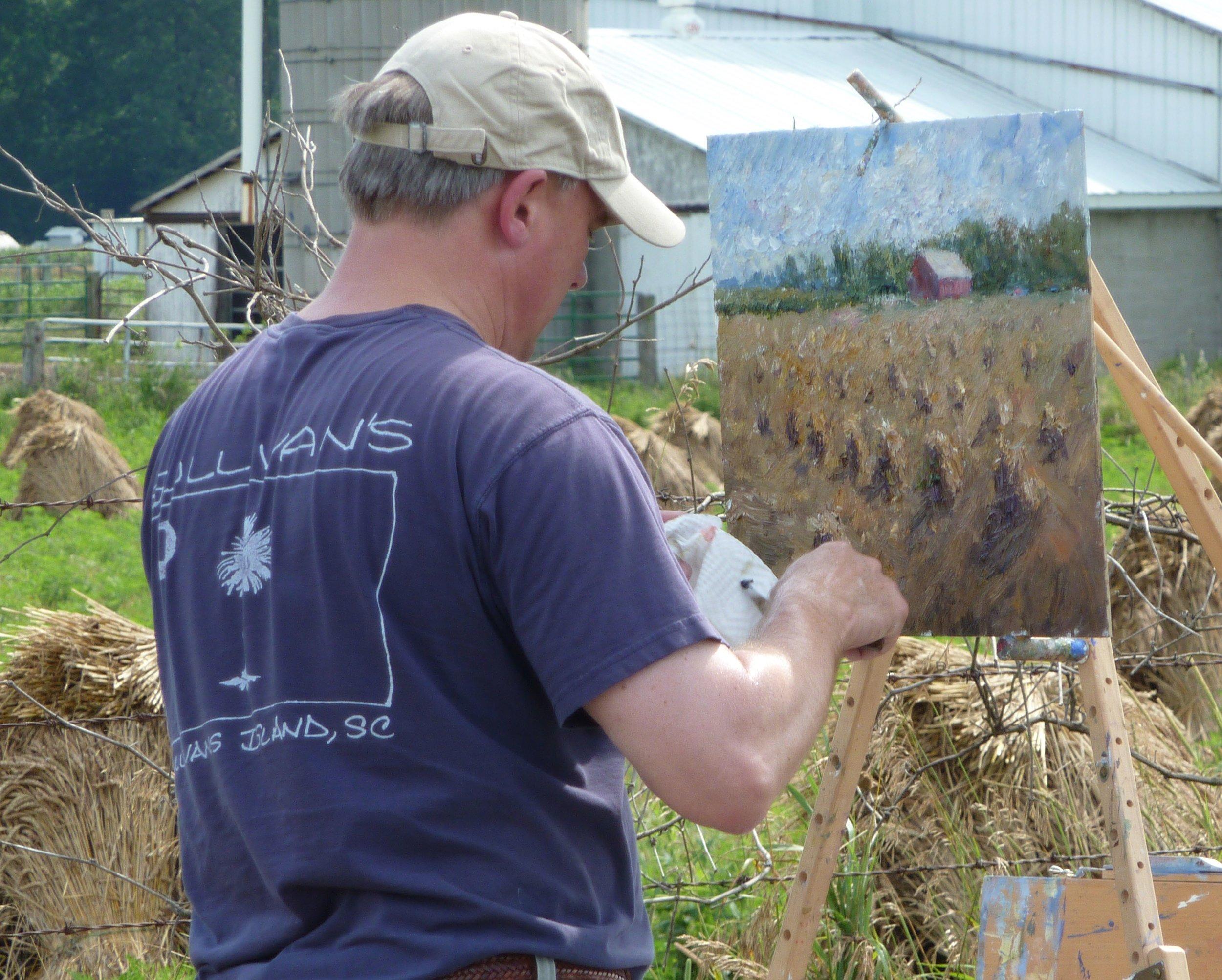 Mark Daly Painting Shipshewana, Indiana