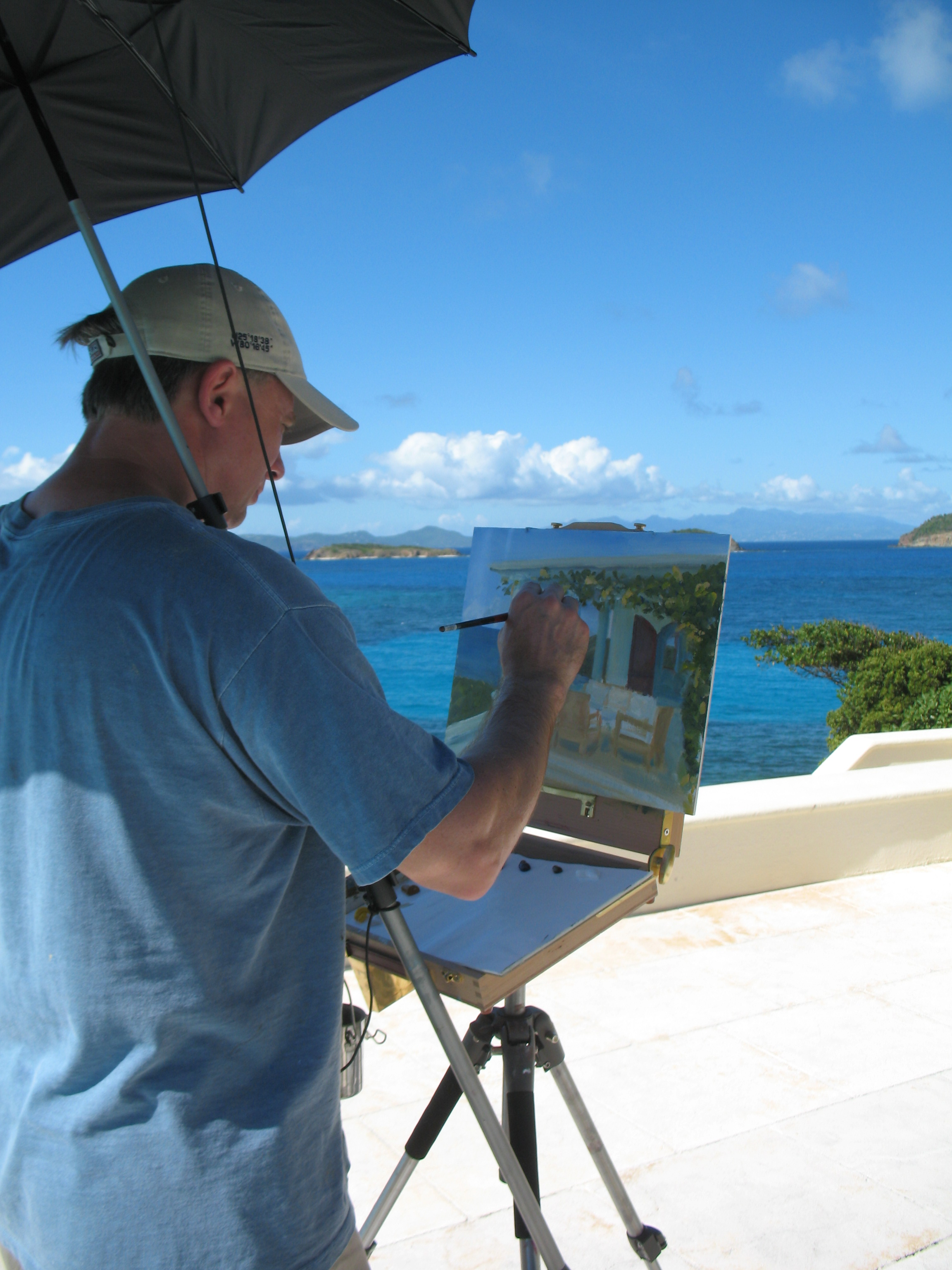 Mark Daly Painting The Caribbean