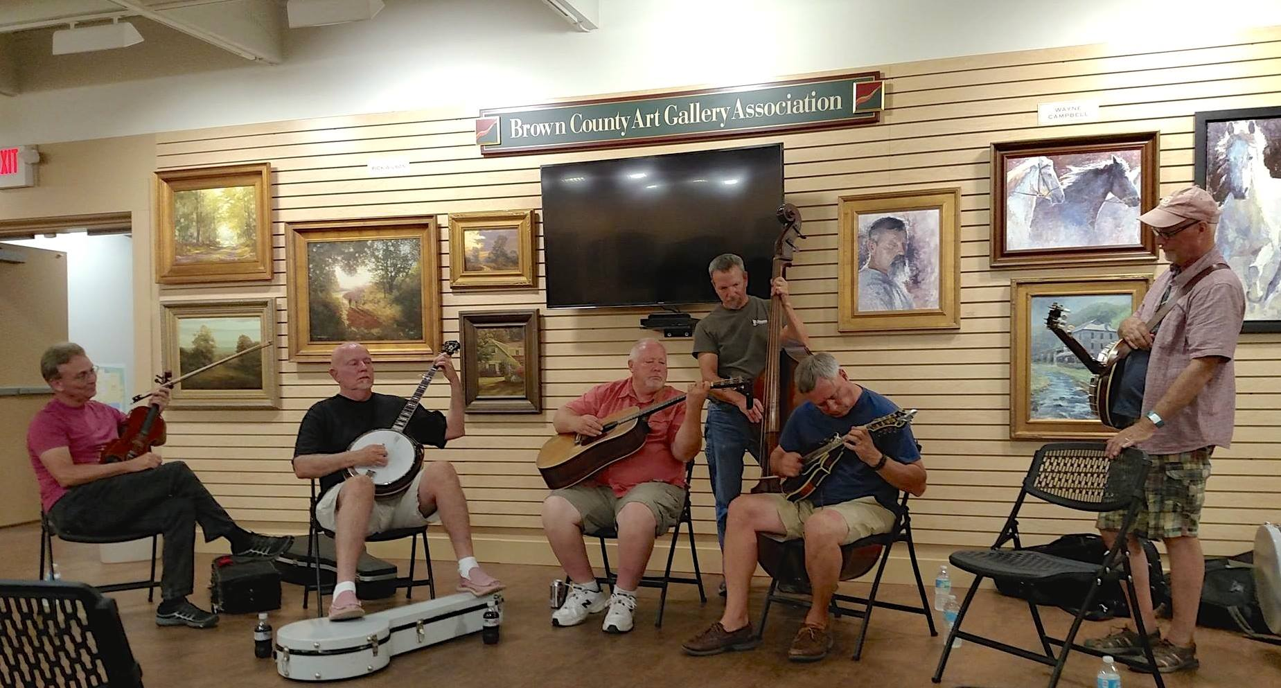 Playing at Brown County Art Gallery