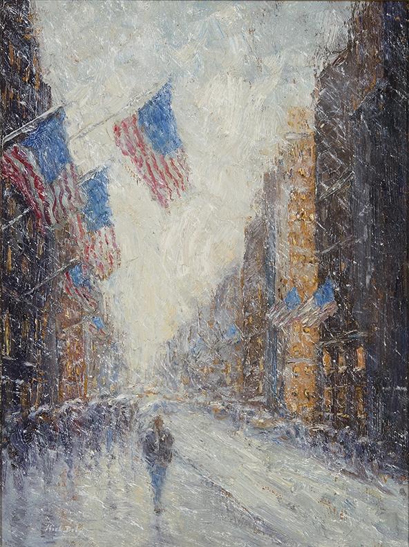 Snowy Flag Impressions