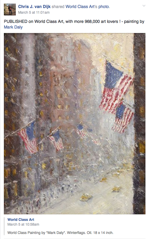Mark Daly's Painting Winter Flags Published by World Class Art
