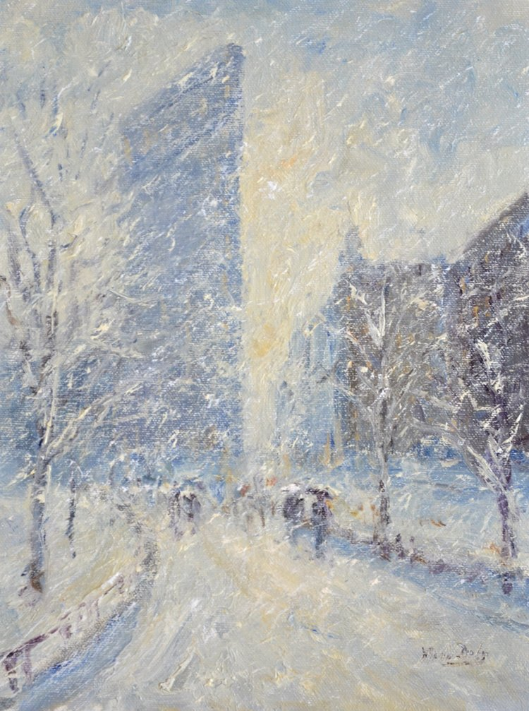 Flatiron Building In Snow