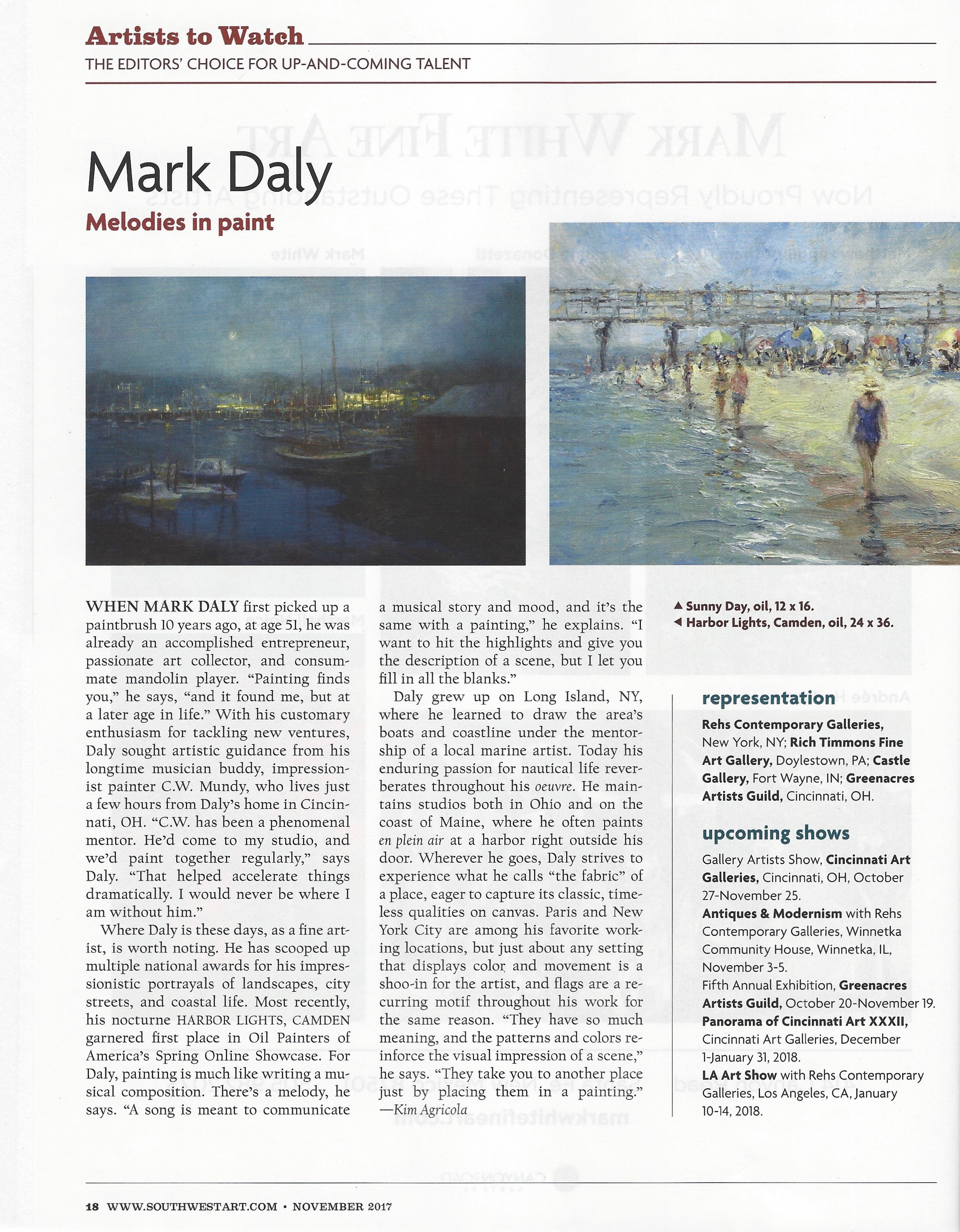 Southwest Art Mark Daly Artists to Warch Nov 2017 2.jpg