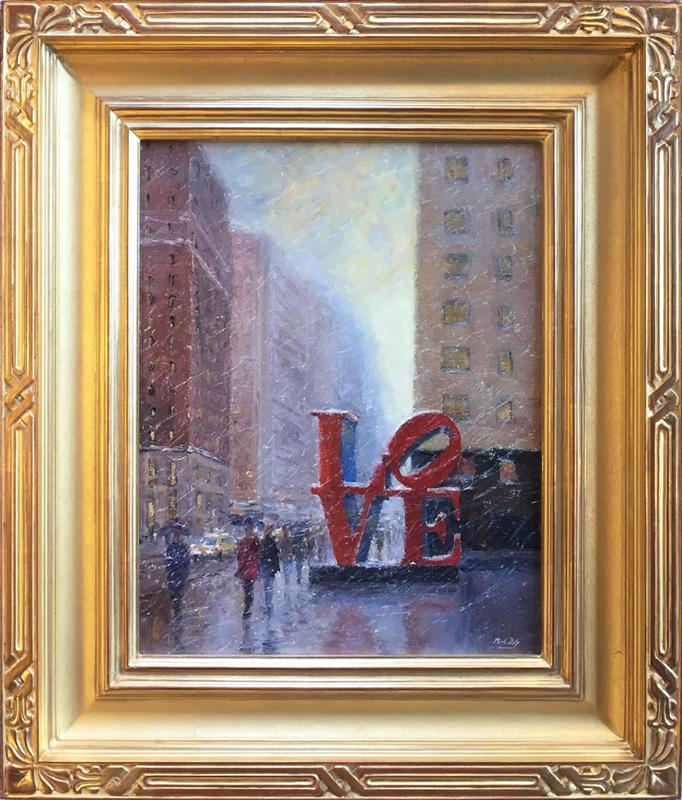 Mark Daly's Love Is All Around, Oil, 20 x 16. Sold by Cincinnati Art Galleries.