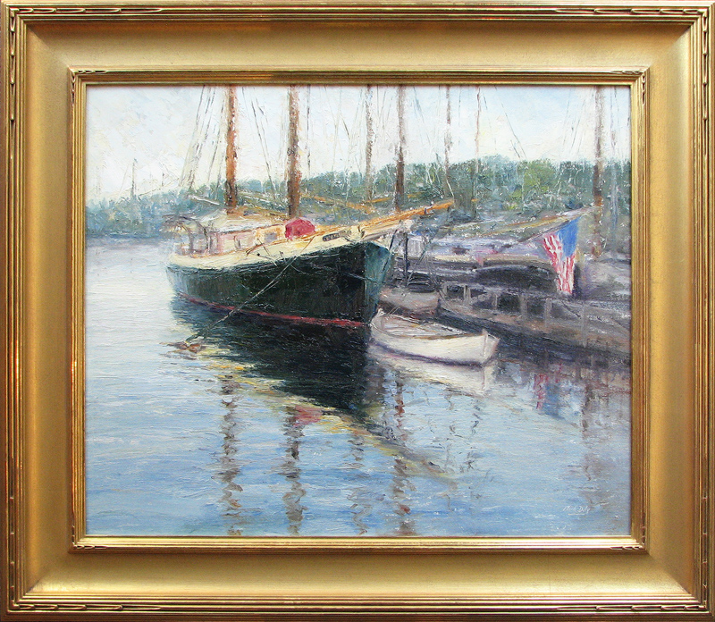 Mark Daly's Angelique Resting, Camden Maine, Oil, 20 x 24. Sold by Cincinnati Art Galleries.