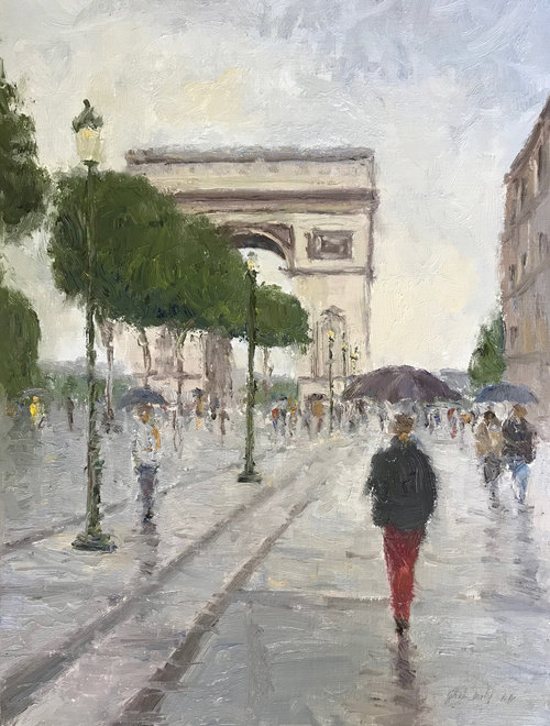 Rainy Day Champs Elysees
