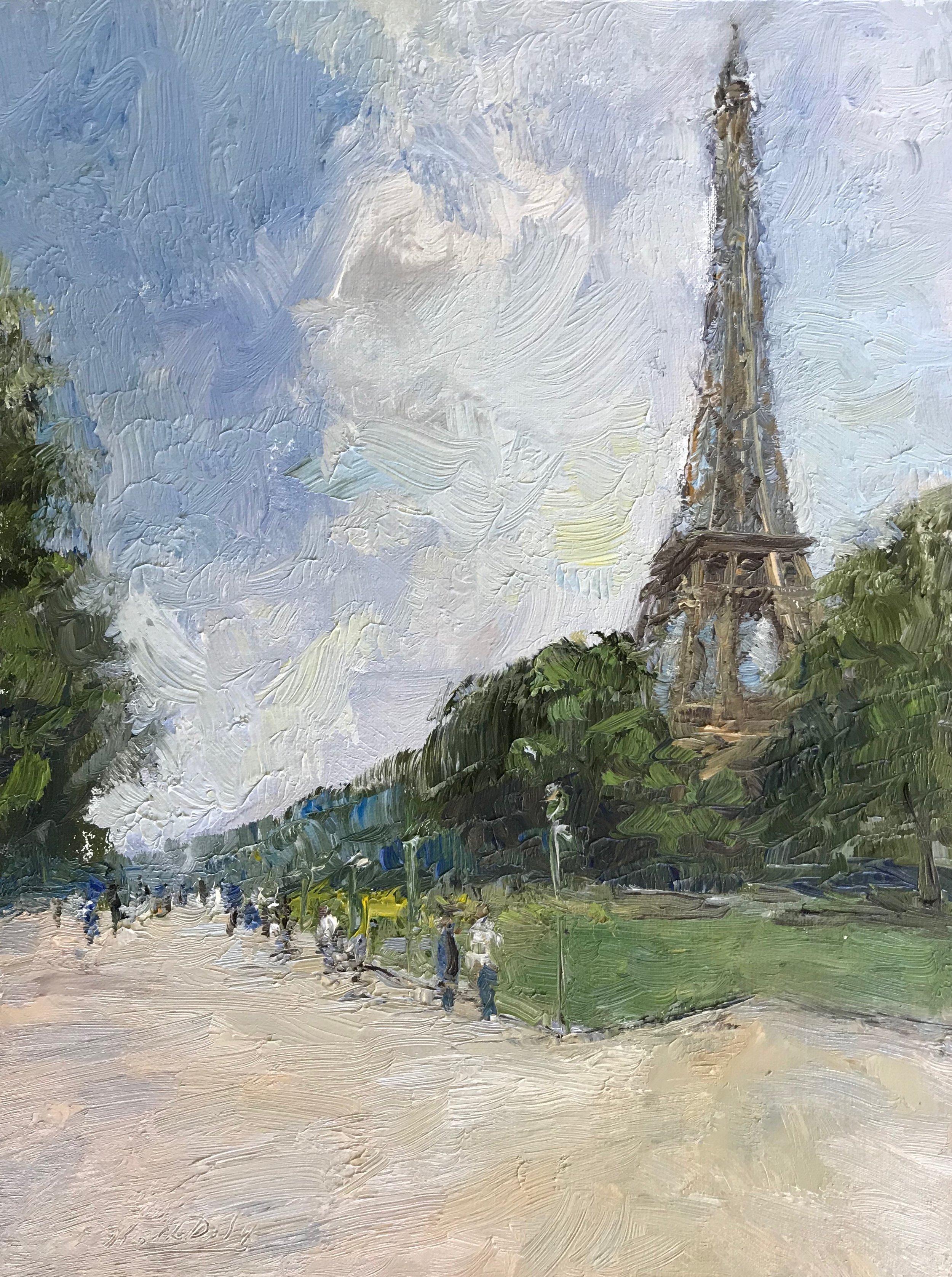 Eiffel Tower Clouds