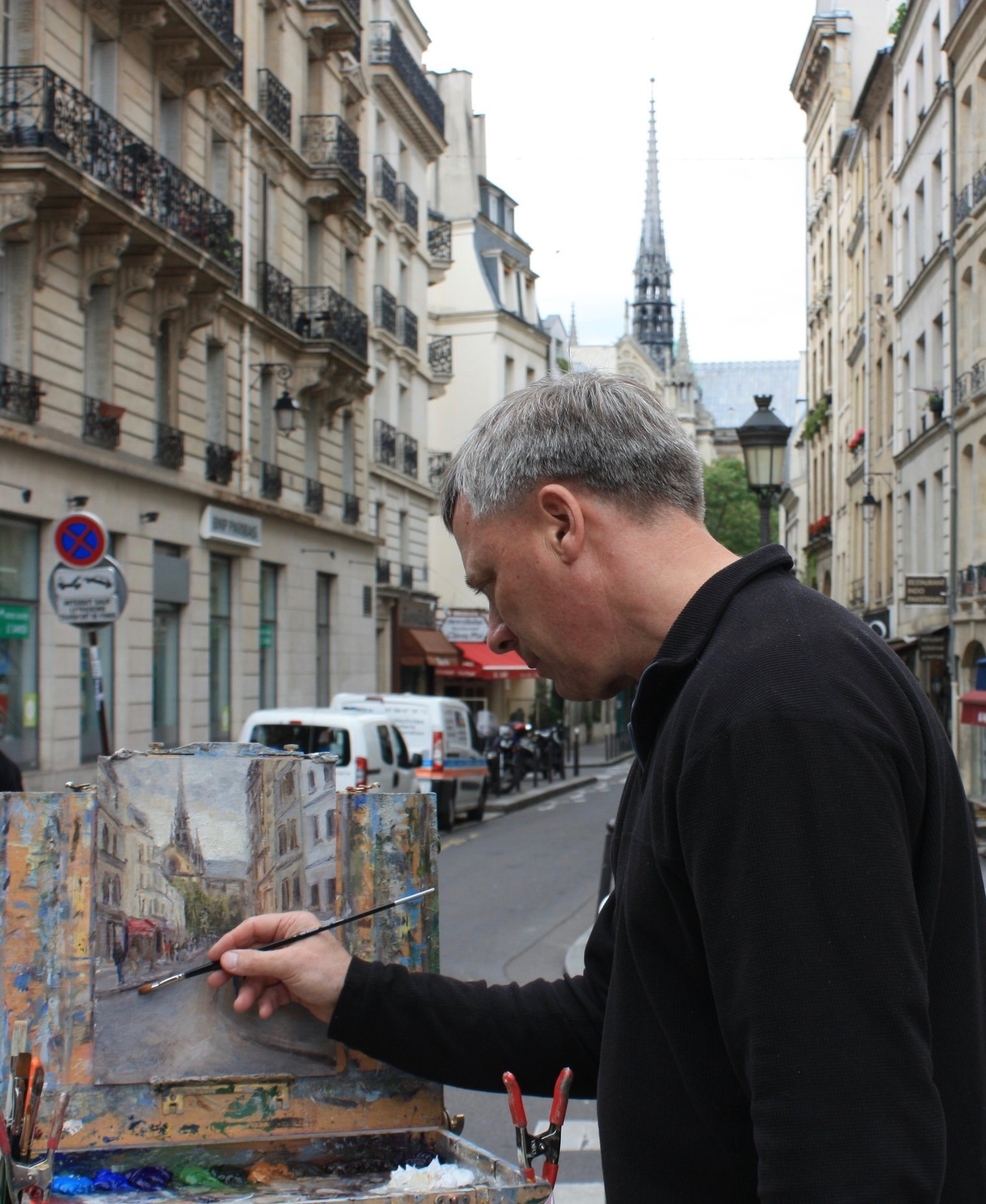 Daly Painting Notre Dame before the fire
