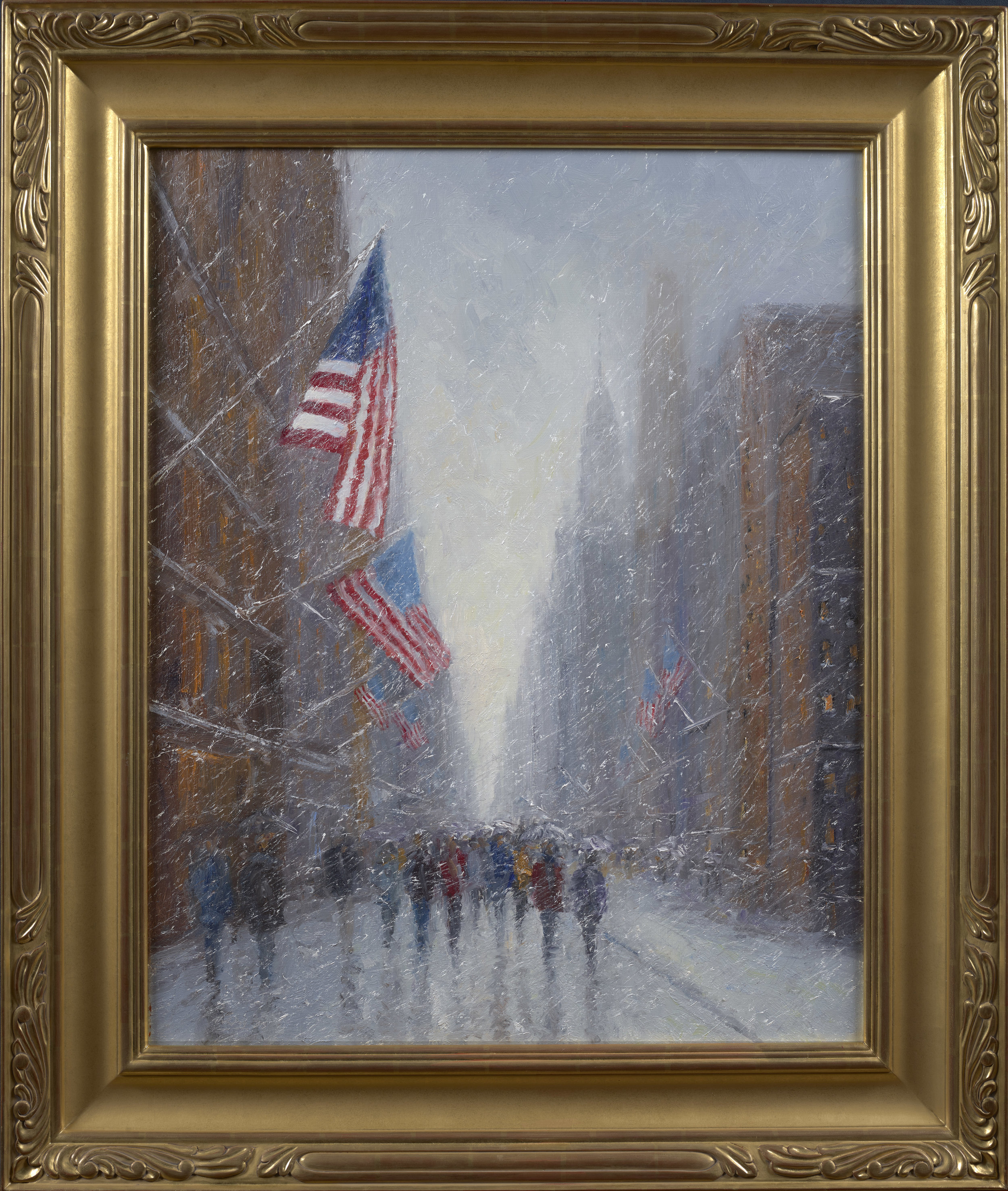 Patriotic Flags, Oil, 30 x 24, SLL by Mark Daly. Available at Rehs Contemporary Galleries