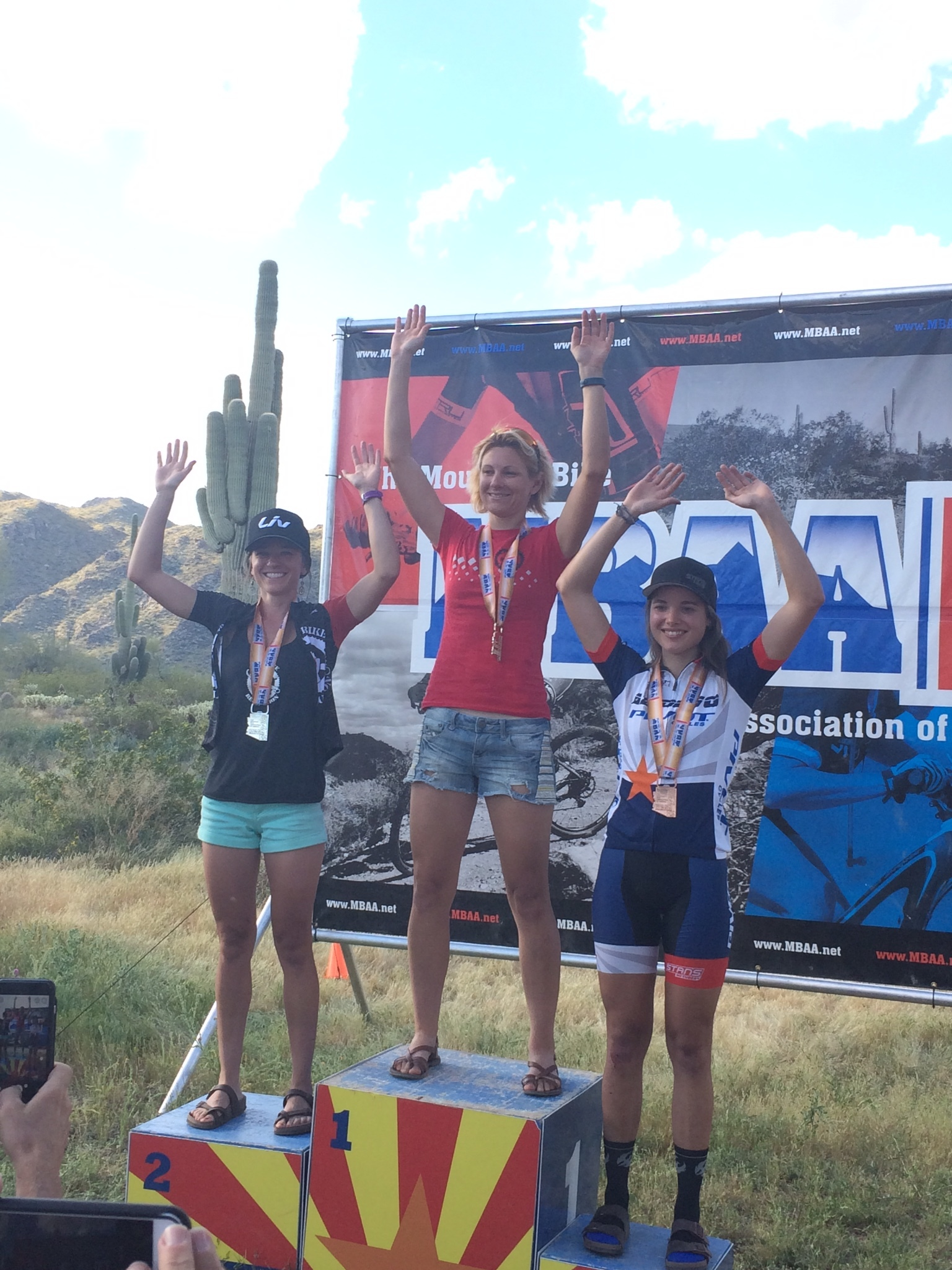 Erin Osborne (left) took 2nd place in the women's Expert Open category.