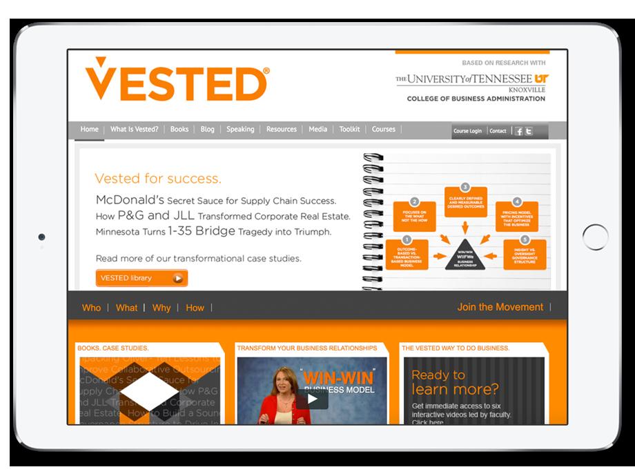 Visit the official  Vested website