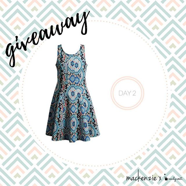 On Mondays we wear prints✨ For a chance to win the #mackenzieXemilywest paisley patterned scuba dress, tag a friend who would love the Mackenzie X Emily West collection and be sure to include #sweepstakes. Winner announced tomorrow💕 -- Congrats to @audrilazar0 for winning our first prize of a sketch signed by @kenzieziegler! -- One comment per entrant. No purchase necessary. Open only to legal residents of 50 US/DC, 13+. Promotion runs March 19, 2017-March 23, 2017. Void where prohibited. Click the link in bio for official rules.