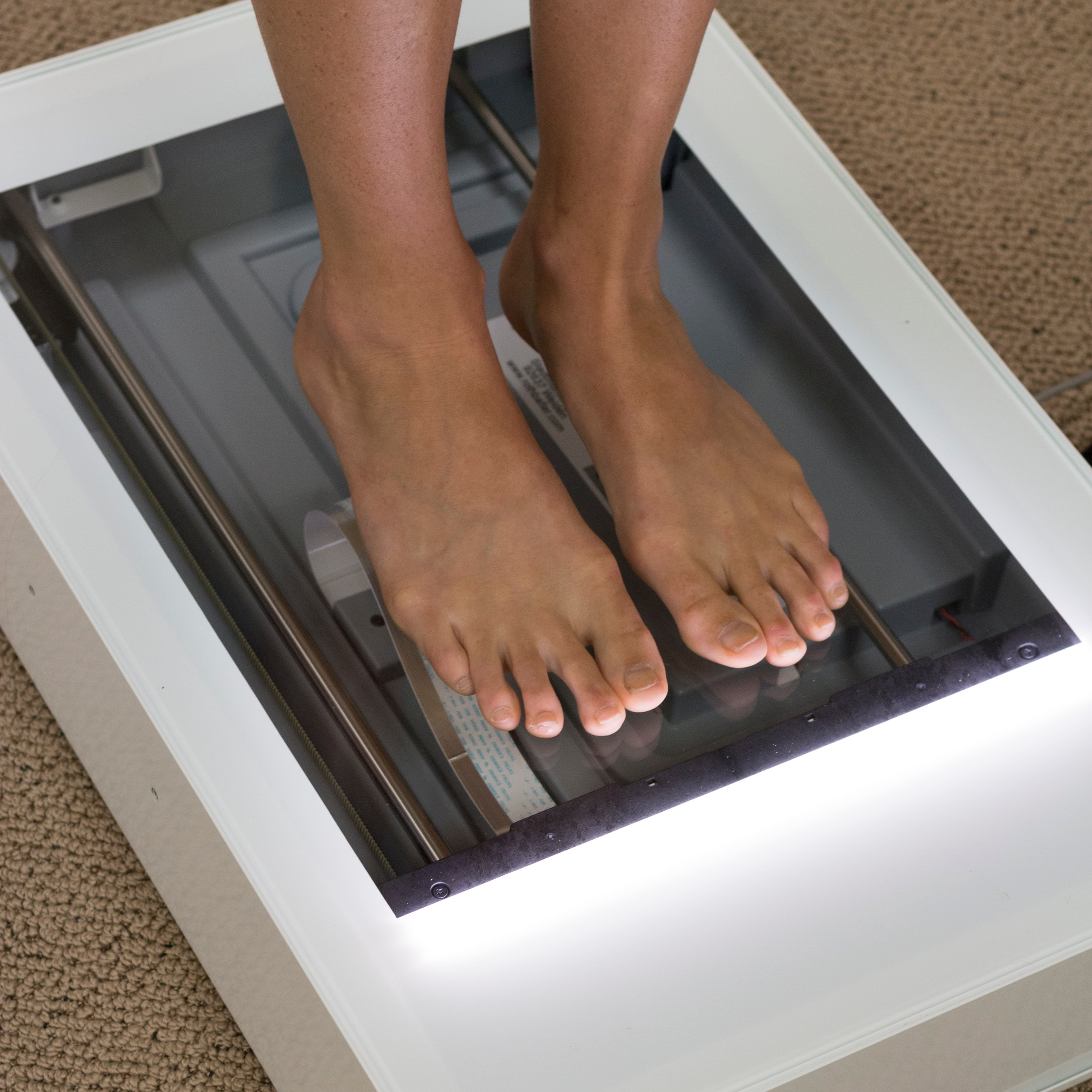 2D SCAN - We will take a measurement of your foot using a 2D scanner. This measurement will give us the exact dimensions of your foot. We will use this image in our insole design software to make a footbed that fits exactly to your foot.