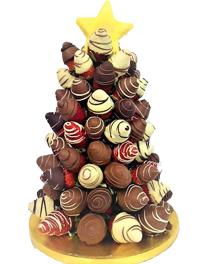xmas chocolate strawberry cone with pineapple star by fruity bouquets.jpg