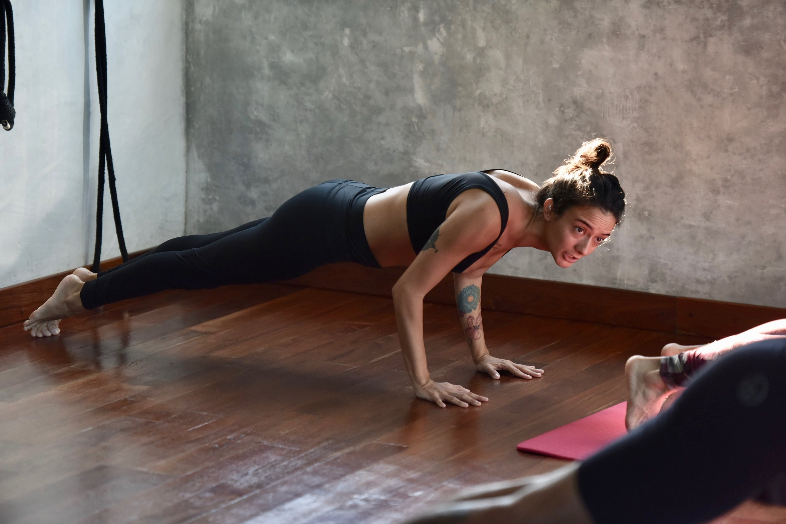 "Mariana   Mariana is from Guadalajara, Mexico. Through constant practice, Mariana witnessed the internal and external changes yoga brought about. Subsequently, she decided to share the yoga practice as a teacher. She studied yoga in Playa del Carmen and received her certification in Vinyasa Flow from Alan Montano in 2016. ""Yoga changed my life and helped me cure physical and emotional problems. It was also crucial in allowing me to respect and accept myself"". Mariana shows her students how yoga helps us live less accelerated lives and be in the moment. Balancing postures are her favorites both in her personal practice and in her teaching because ""you can see yourself and your students build confidence, something that can improve each and every person's life. "" Mariana teaches Vinyasa Flow and the full moon meditation at Tribal."