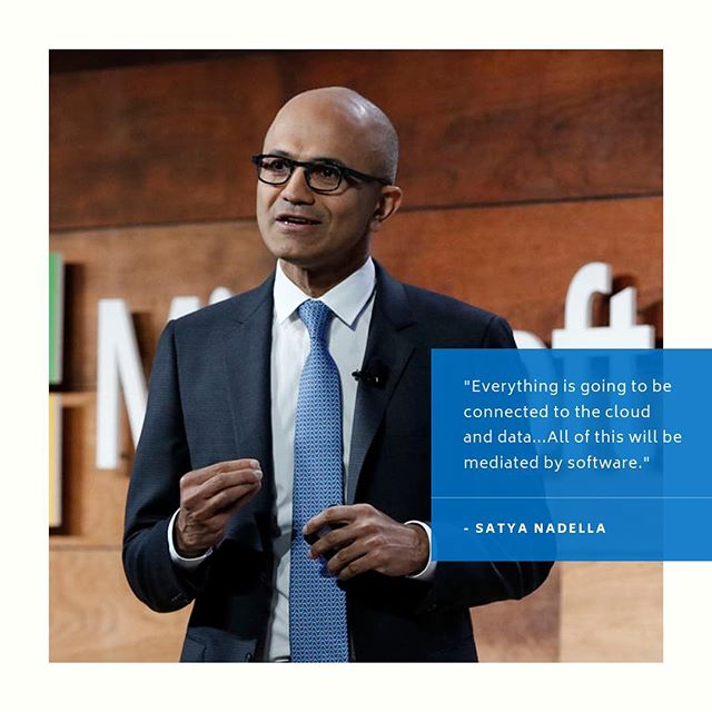 """Everything is going to be connected to #cloud and #data...All of this will be mediated by #software."" - Satya Nadella  To learn more about Infrastructure Transformation or Migrating to the Cloud, schedule a consultation with one of our experts today: 4nb.link/schedule  #4thandbailey #accountant #attorney #businessowner #lawfirm #cloudcomputing #commericalrealestate #healthcare #houston #itadmin #consultant #itpro #itprofessional #itservices #lawyer #cre #directorofit #microsoftazure #office365 #oilandgas #realtor #realestate #lawfirm #cio #cfo #itsupport  New CEO Nadella Tells Customers Microsoft 'Very Confident' In Software For Mobile, Cloud: https://www.forbes.com/sites/connieguglielmo/2014/02/04/microsoft-ceo-satya-nadella-address-customers-partners-live/#19ab0c85609e  Image Credit: https://3er1viui9wo30pkxh1v2nh4w-wpengine.netdna-ssl.com/wp-content/uploads/sites/316/2017/10/satya_slide-800x533.jpg"
