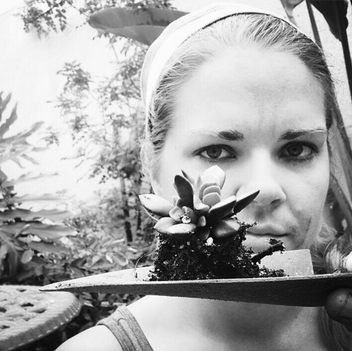 Me gardening and being artsy-fartsy in 2013