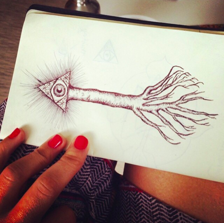 One of my drawings from my trip to New Caledonia