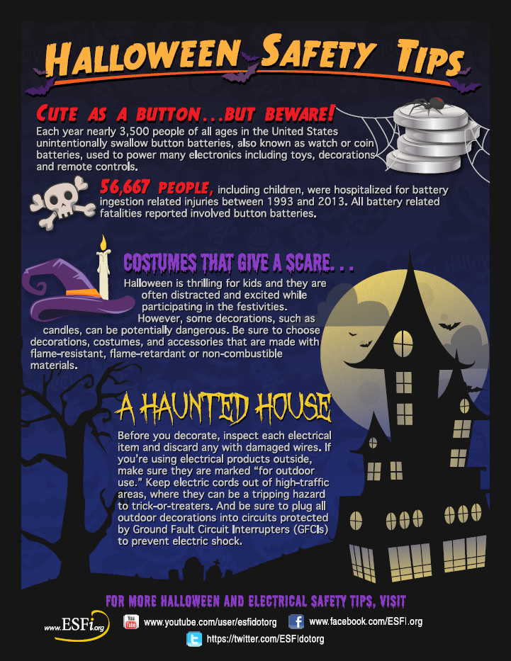 Have a Happy Halloween but keep safety in mind!