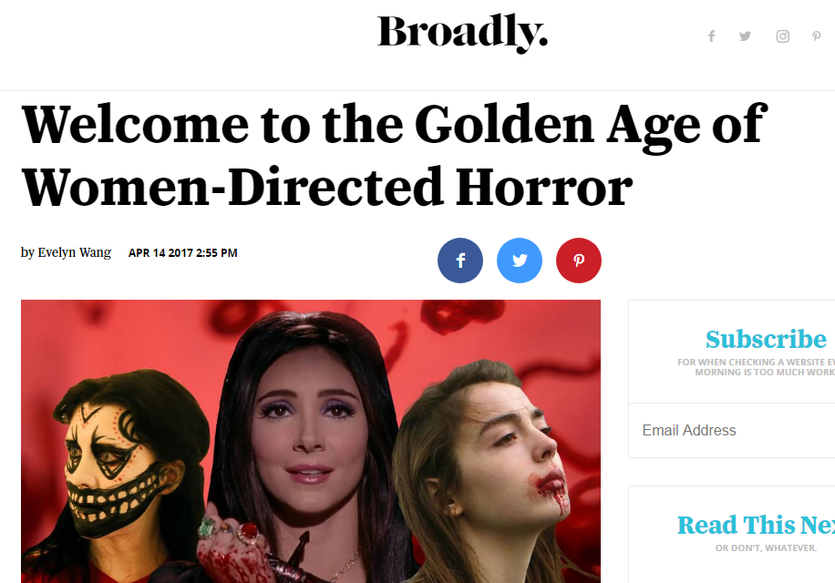 Welcome to the Golden Age of Women-Directed Horror - Interview with Broadly