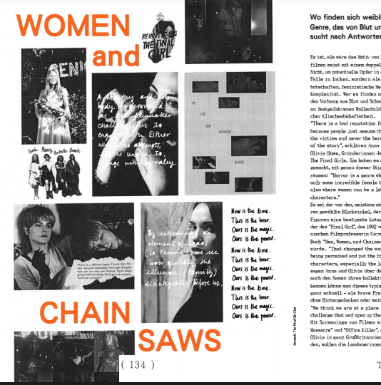 Women and Chainsaws - Interview in Material Girl Magazine