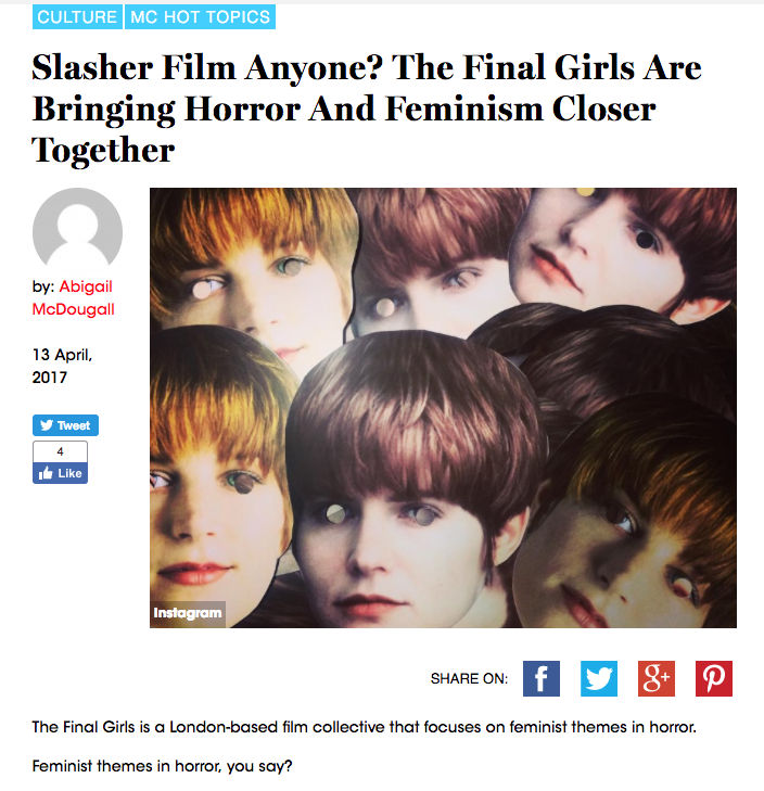 'Slasher Film Anyone? The Final Girls Are Bringing Horror and Feminism closer together' - Marie Claire (New Zealand)