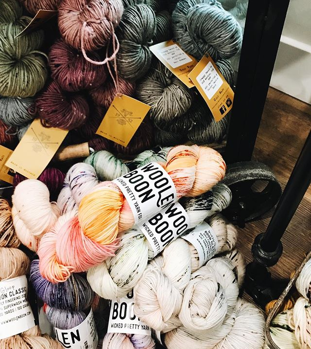 May or may not have just blown my yarn budget over @hillcountryweavers. The #bestlittleyarncrawlintexas made me do it! 🙈 Loved seeing this cozy corner of yarn by my new fellow Austinite @woolenboon! 👋🏻 #blyc2018 PS to clarify, I did not buy all of this yarn, much as I may have wanted to. 😂 ✖️ #yarnporn #humansthatyarn #knittersofinstagram #knittersofig #ourmakerlife