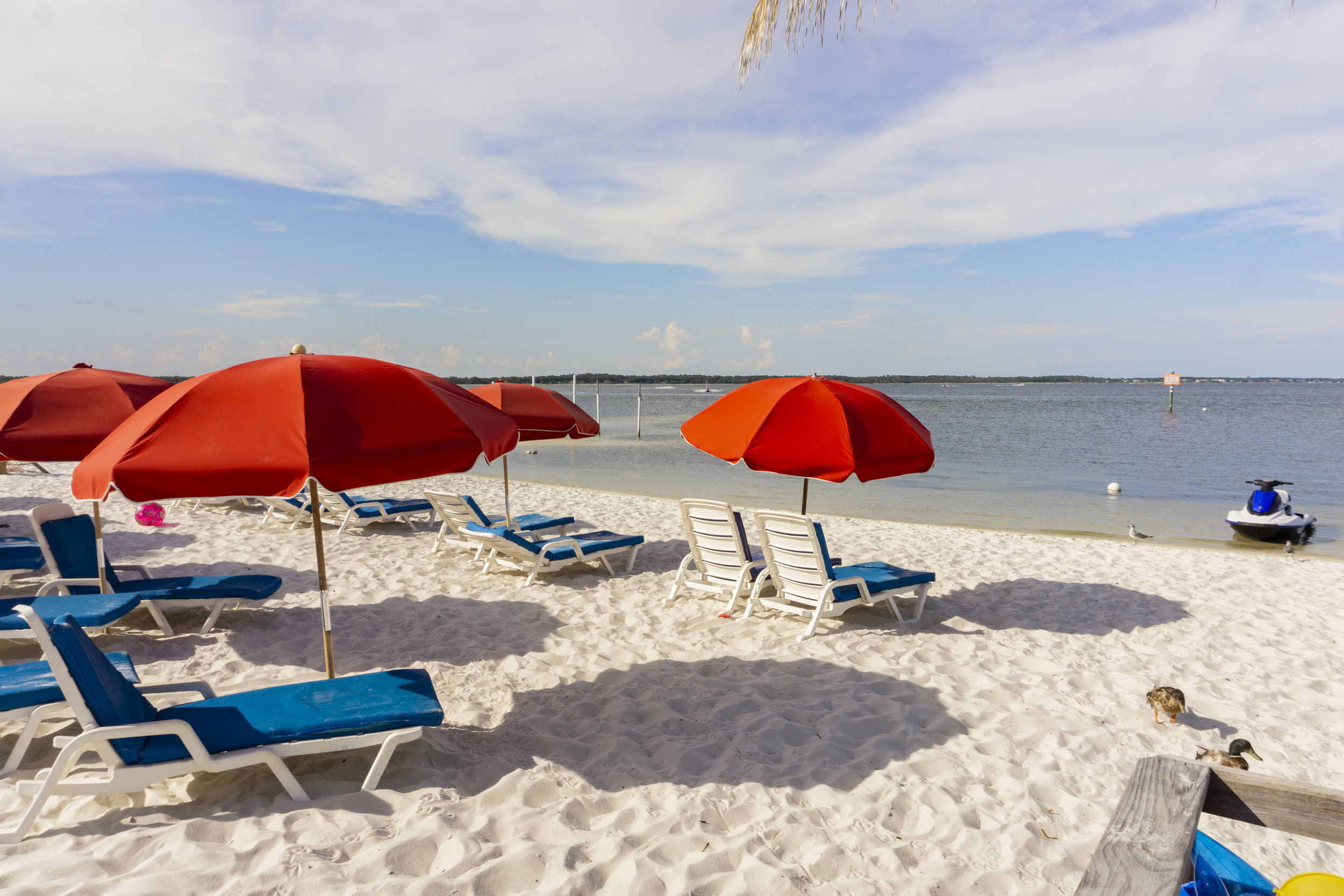 The long strips of beach are perfect for soaking in the sun and taking in the views, white sand between your toes and all.