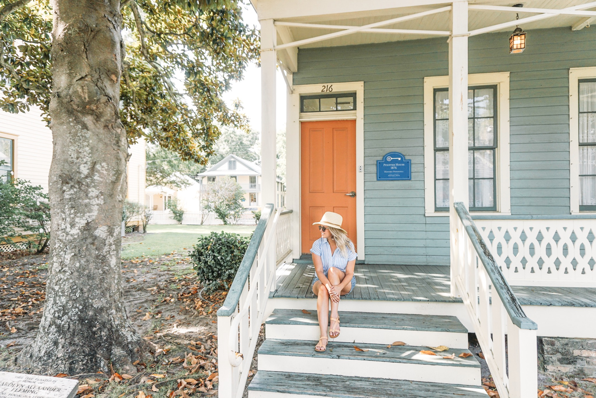 There's something about a beach town with big billowing trees and colorful porches that will make you never want to leave.