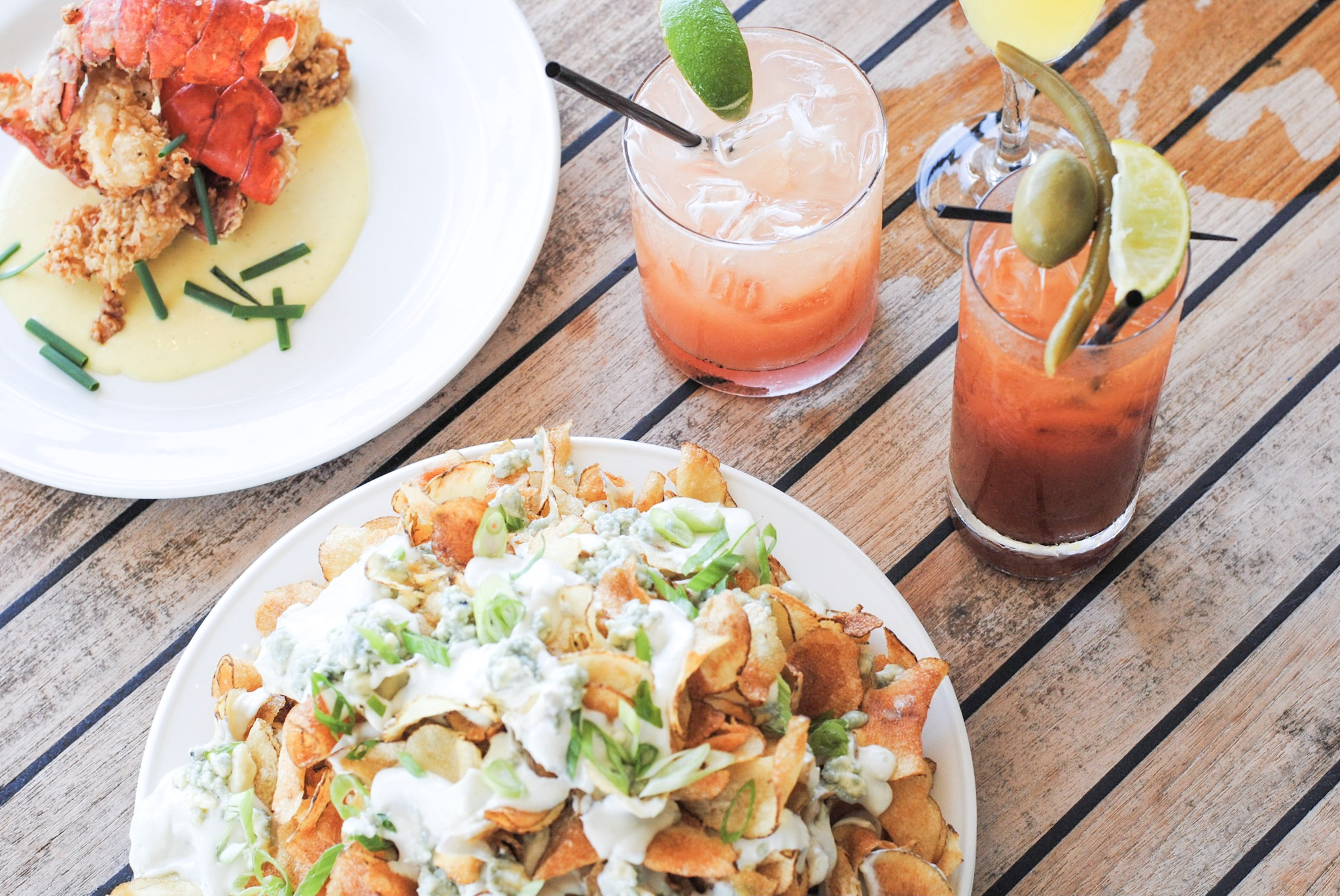 The margaritas are fresh squeezed and the mid afternoon snacks taste as good as they look.