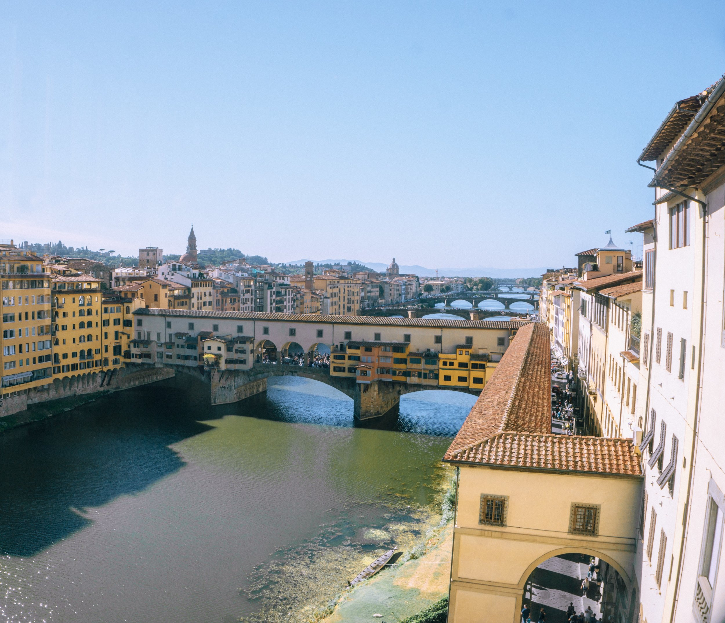 The canals are actually out of a fairytale… and the Ponte Vecchio or (old bridge) is as strikingly beautiful as it is old.