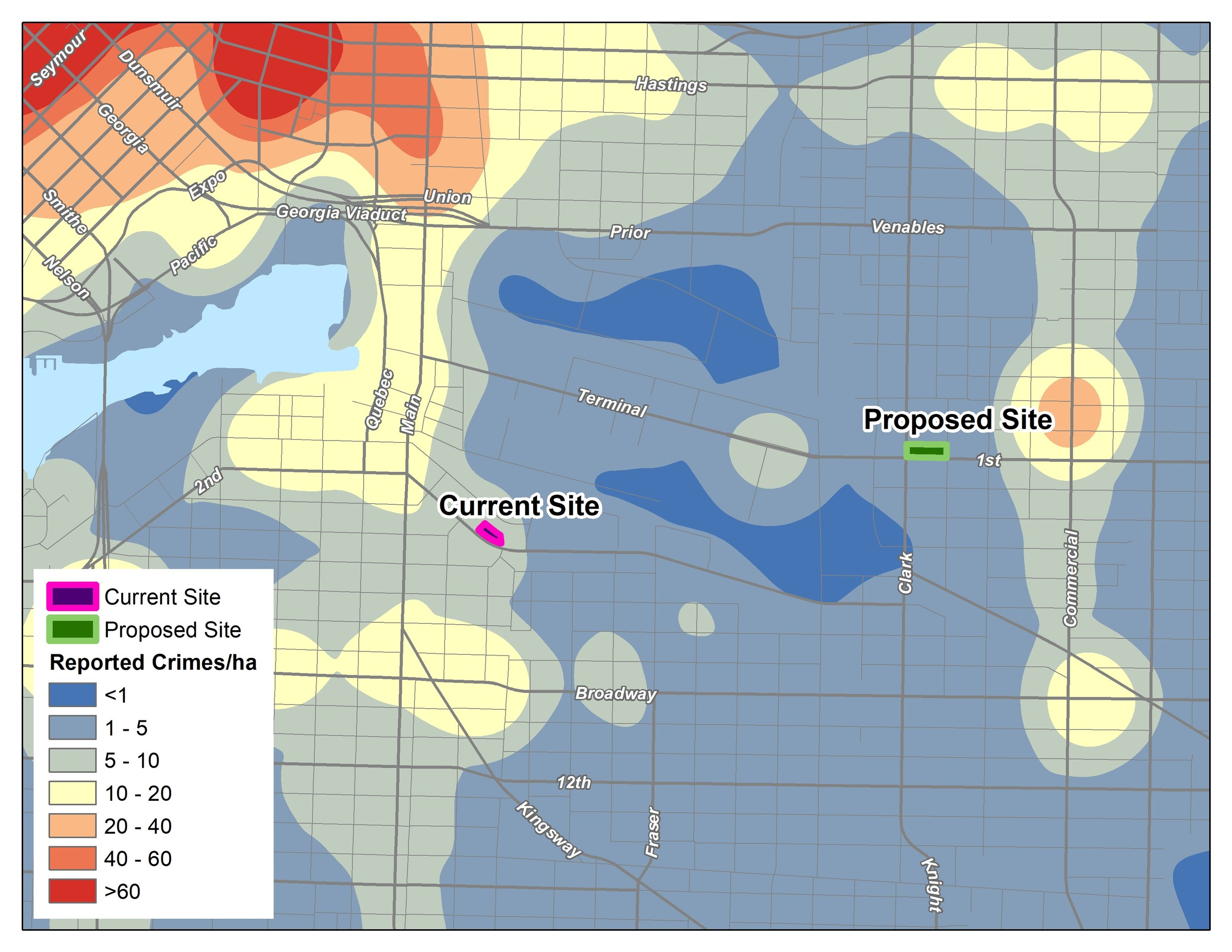 Image 2: Density of Reported Crimes/ha