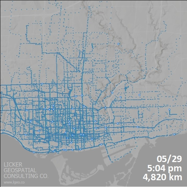 Cumulative Cycling Traffic from Biko Users in May