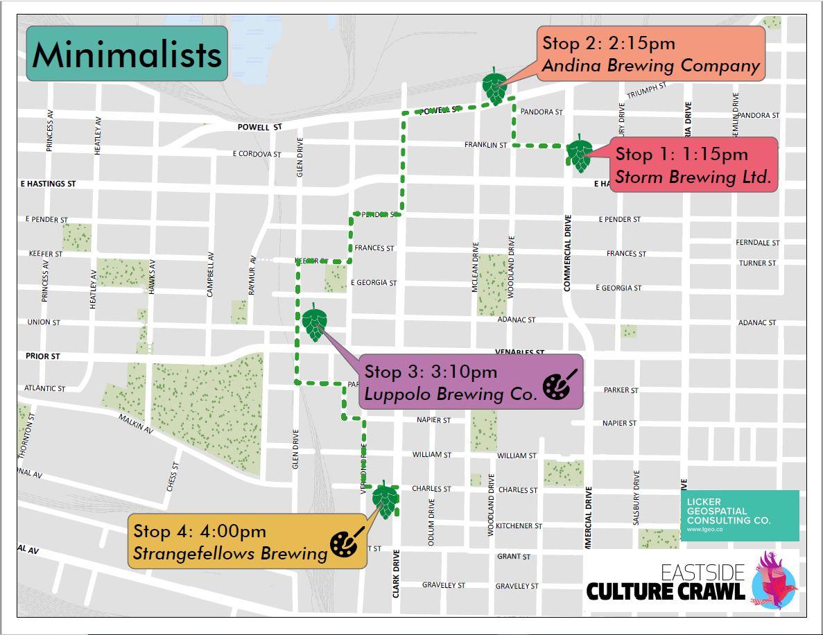 Brewery Tour Optimzation - Culture Crawl Edition