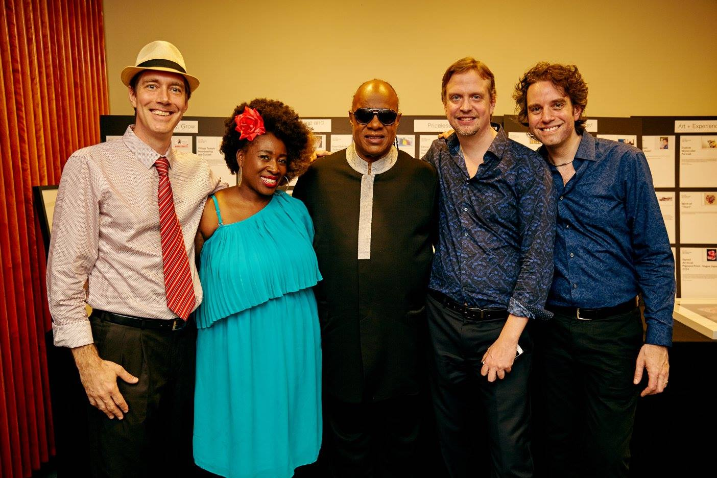 VAN DAVIS after performing with the great Stevie Wonder.   Click here for the full story and video!