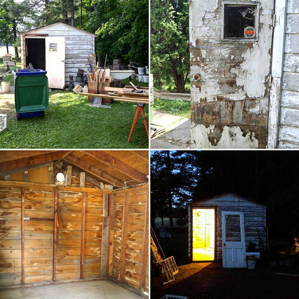 The Tiny Shed makeover process