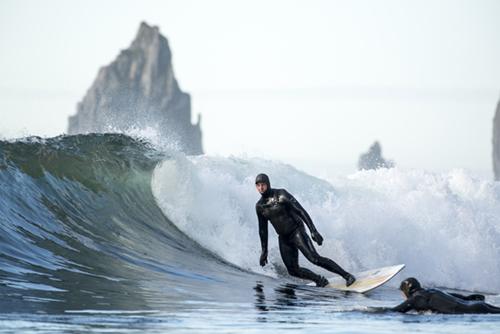 Rob Phillips seeks surfing solitude in Alaska's Aleutian Islands.